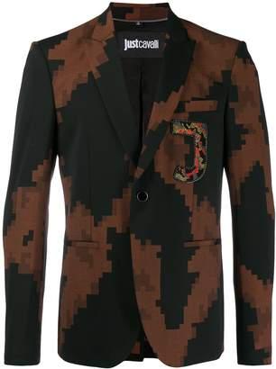 Just Cavalli pixel print blazer