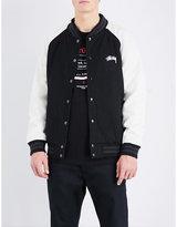 Stussy Logo-embroidered Wool-blend Varsity Jacket