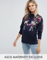 Asos Print and Embellished Sweat Top