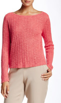 Eileen Fisher Bateau Neck Boxy Crop Sweater