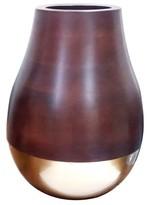 Threshold Gold and Wood Vase Large