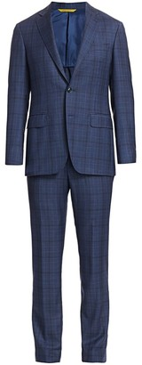 Canali Classic-Fit Plaid Wool Suit