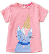 Joules Baby/Little Girls 12 Months-3T Pixie Cat Short-Sleeve Graphic Tee