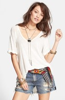 Free People Women's 'Free Falling' Shirttail V-Neck Tee