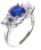 Kenneth Jay Lane Sapphire Triple Classic Ring