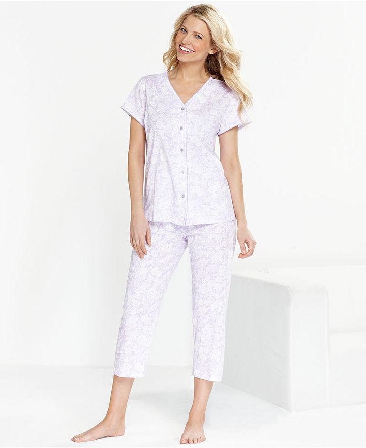 Charter Club Pajamas, Knit Capri Top and Capri Pajama Pants Set