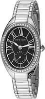 Pierre Cardin Merveille Women's Quartz Watch with Black Dial Analogue Display and Silver Stainless Steel Bracelet PC105992S06