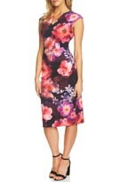 CeCe Women's Floral Scuba Sheath Dress