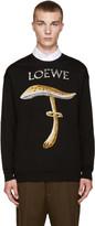Loewe Black Mushroom Jacquard Sweater