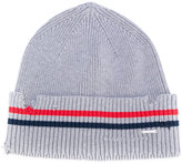Diesel distressed striped beanie - men - Cotton - One Size