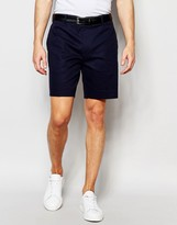 Asos Skinny Tailored Chino Shorts In Navy