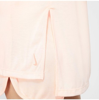 Nike Yoga Dry Layer Short Sleeve Top - Coral