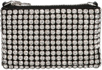 Alexander Wang Heiress Rhinestone Nano Pouch Bag