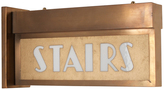 Rejuvenation Late Deco Period Lighted Stairs Sign C1935