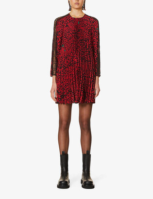RED Valentino Panther print crepe mini dress