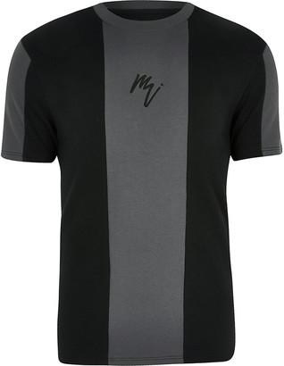 River Island Big and Tall Maison Riviera black T-shirt