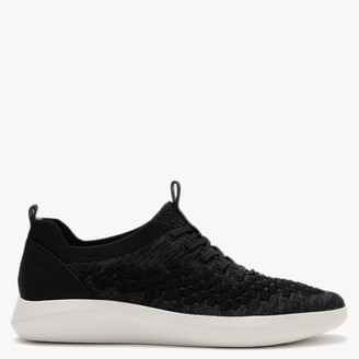 Legero Impact Black Knitted Lace Up Trainers