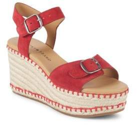 Lucky Brand Naveah Suede Wedge Espadrilles