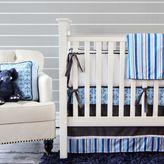 Caden Lane 2-Piece Luxe Blue Damask Crib Bedding Set
