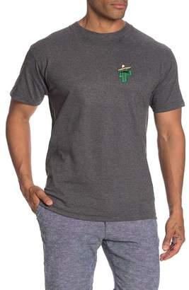 Retrofit Cactus Mustache Patch T-Shirt