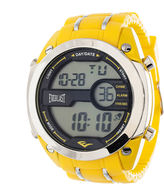 Everlast Mens Yellow Silicone Strap Watch