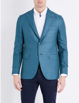 Boglioli Textured regular-fit silk and cashmere-blend jacket