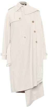 Balenciaga Pulled cotton trench coat