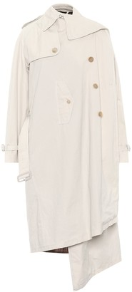 Balenciaga Pulled cotton trench coat