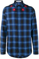 Givenchy star applique check shirt