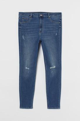 H&M H&M+ Curvy High Ankle Jeggings - Blue