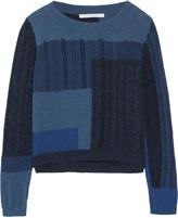 Diane von Furstenberg Padma intarsia-knit cotton sweater