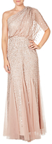 Adrianna Papell One Shoulder Beaded Blouson Gown, Blush