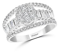 Bloomingdale's Cluster Diamond Multi-Row Ring in 14K White Gold, 1.25 ct. t.w. - 100% Exclusive