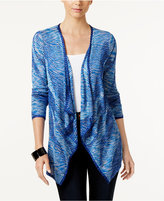 INC International Concepts Petite Space-Dyed Draped Cardigan, Only at Macy's