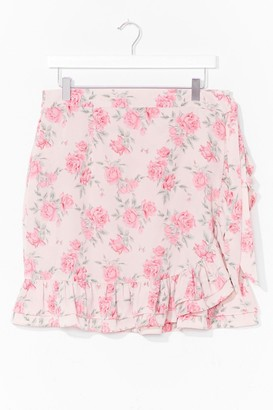 Nasty Gal Womens Bud Thing Going On Plus Floral Mini Skirt - Pink