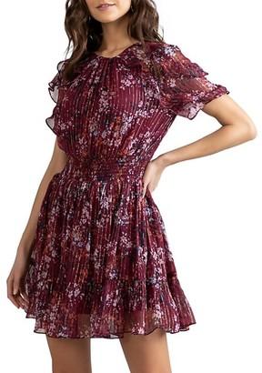 Shoshanna Rodney Metallic Thread Dress