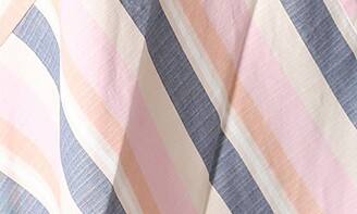Sandra Darren Striped V-Neck Sleeveless A-Line Dress
