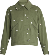 Stella McCartney Floral-embroidered utility jacket