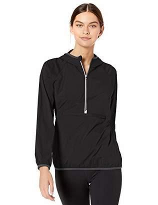Cutter Women's Breaker Half Zip Long Sleeve Hooded Popover Jacket