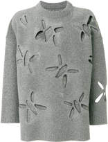Oamc cut out loose-fit jumper