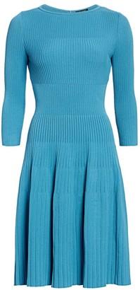 St. John Engineered Rib Midi Dress