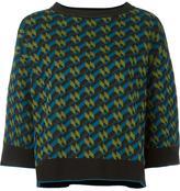 M Missoni geometric intarsia jumper