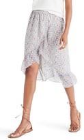 Madewell Women's Ruffle Wrap Front Midi Skirt
