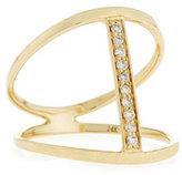 Sydney Evan Split Pavé Diamond Bar Ring