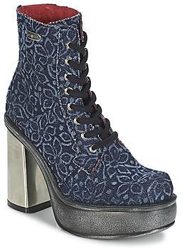 New Rock BOSTA women's Low Ankle Boots in Blue