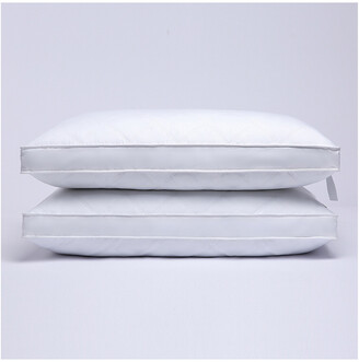 Puredown Puredown Set Of 2 Quilted Gusseted Feather & Down Pillows With Cover