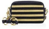 Michael Kors Julie Small Studded Stripe Leather Camera Bag