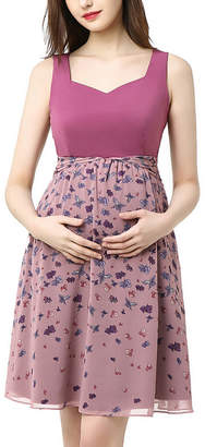Kimi + Kai Maternity Libby Printed Skater Dress