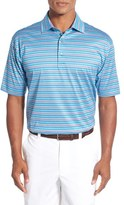 Bobby Jones Men's 'Run On Stripe' Mercerized Cotton Polo