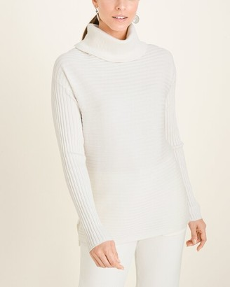 Zenergy Cotton-Cashmere Blend Cozy Ribbed Sweater